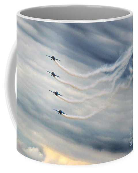 Blades Extra 300 Coffee Mug featuring the photograph Layers by Angel Ciesniarska