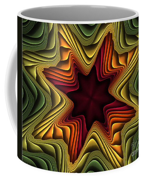 Fractal Coffee Mug featuring the digital art Layers Of Color by Deborah Benoit