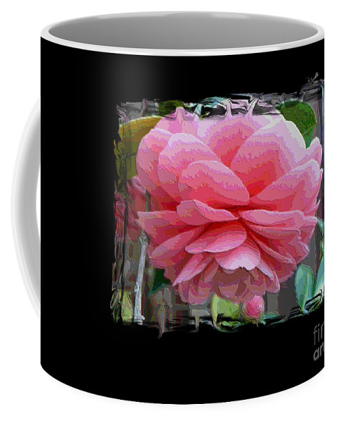 Pink Camellia Coffee Mug featuring the digital art Layers Of Pink Camellia Dream by Carol Groenen