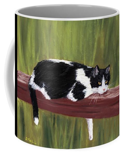 Malakhova Coffee Mug featuring the painting Lazy Day by Anastasiya Malakhova