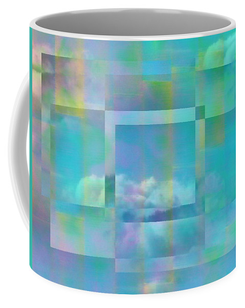 Pastel Coffee Mug featuring the digital art Lazy Days Pastel Squared by Tim Allen