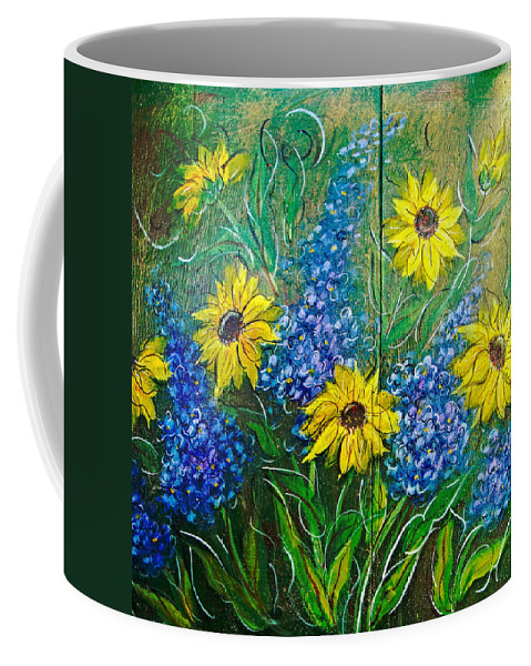 Garden Coffee Mug featuring the painting Lazy Susan by Natalie Holland