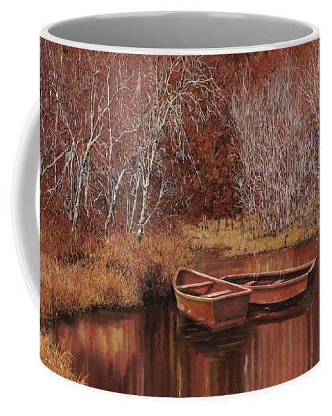 Boats Coffee Mug featuring the painting Le Barche Sullo Stagno by Guido Borelli