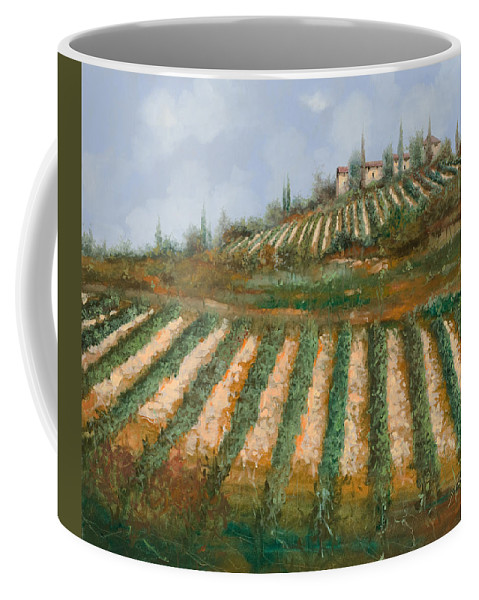 Vineyard Coffee Mug featuring the painting Le Case Nella Vigna by Guido Borelli