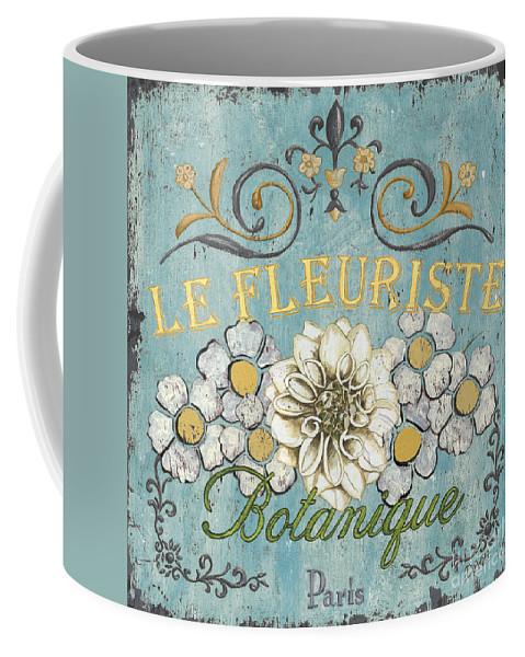 Flowers Coffee Mug featuring the painting Le Fleuriste de Botanique by Debbie DeWitt