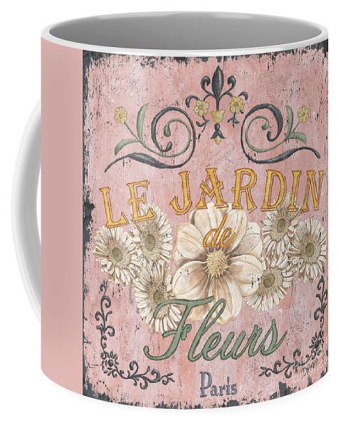 Le Jardin Coffee Mug featuring the painting Le Jardin 1 by Debbie DeWitt
