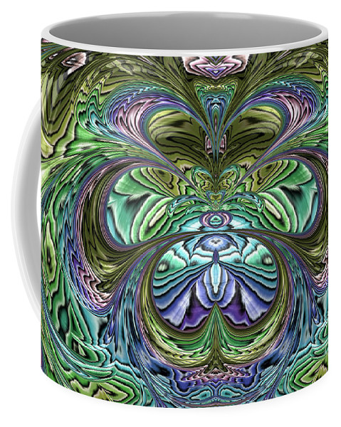 Garden Abstract Coffee Mug featuring the digital art Le Jardin Secret by John Edwards