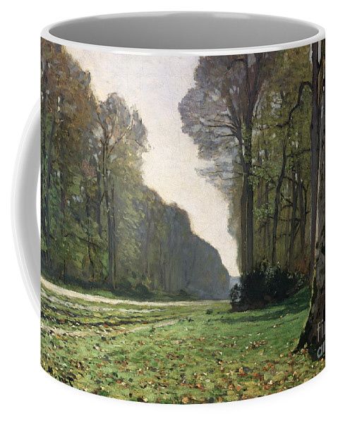 The Coffee Mug featuring the painting Le Pave de Chailly by Claude Monet