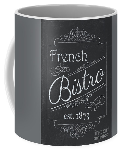Cafe Coffee Mug featuring the painting Le Petite Bistro 4 by Debbie DeWitt