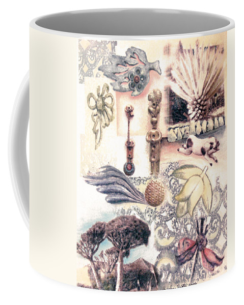 Abstract Coffee Mug featuring the painting Le Petite Pig Does Fly by Valerie Meotti