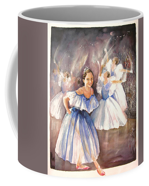 Music Coffee Mug featuring the painting Le Premier Pas by Miki De Goodaboom