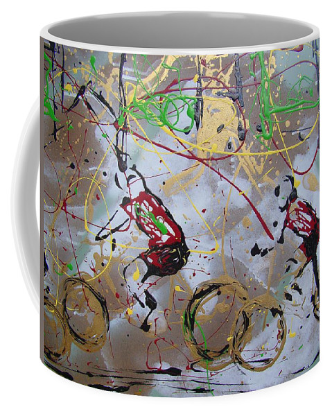 Abstract Coffee Mug featuring the painting Le Tour B by J R Seymour