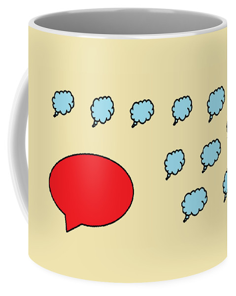 Coffee Mug featuring the digital art Leader And Follower by Aj
