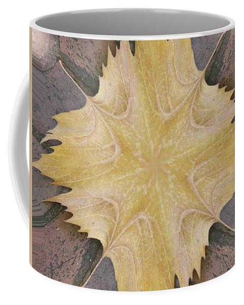 Leaf Coffee Mug featuring the photograph Leaf On Bricks 6 by Tim Allen