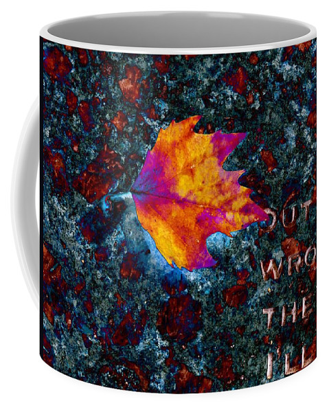 Leaf Coffee Mug featuring the digital art Leaf On Stone by Tim Allen