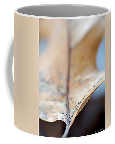 Abstract Coffee Mug featuring the photograph Leaf Study Vii by Lauren Radke