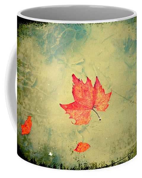 Leaf Coffee Mug featuring the photograph Leaf Upon the Water by Bill Cannon