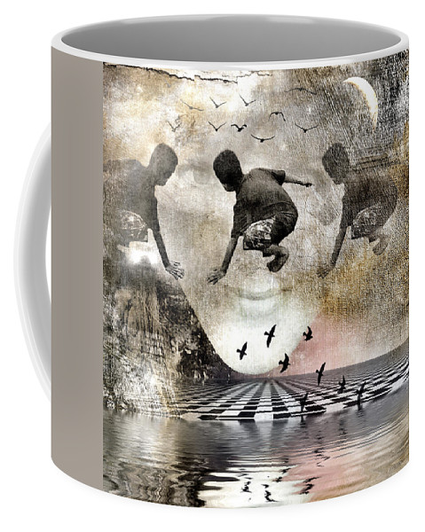Imagination Coffee Mug featuring the digital art Lean On Me by Melissa D Johnston