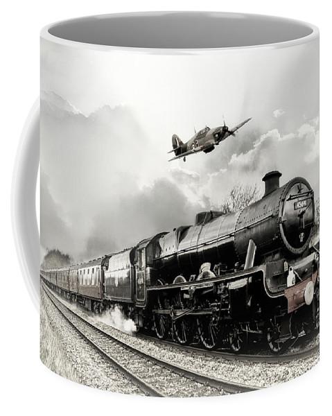 Hawker Hurricane Coffee Mug featuring the digital art Leander And Hurricane by J Biggadike