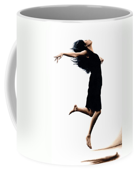 Ballet Coffee Mug featuring the painting Leap Into The Unknown by Richard Young
