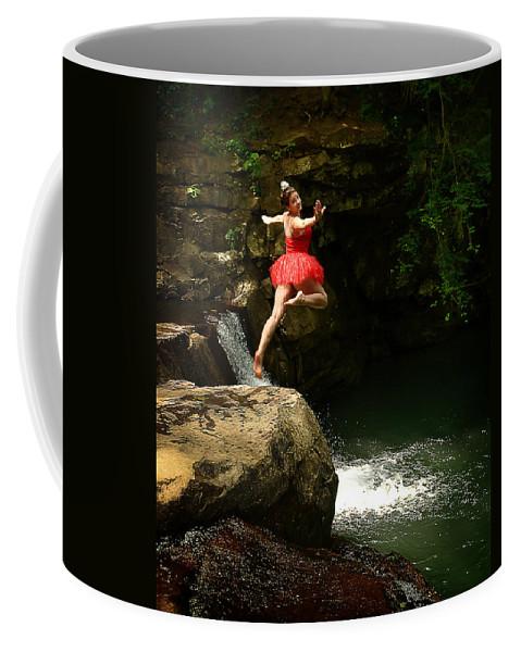 Ballerina Coffee Mug featuring the photograph Leap Of Faith by Lj Lambert