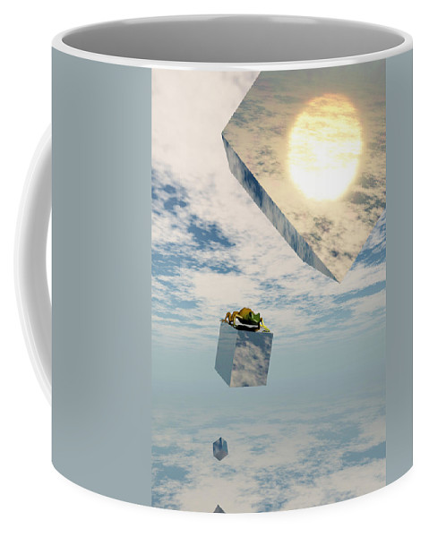 Surrealism Coffee Mug featuring the digital art Leaps And Bounds by Richard Rizzo