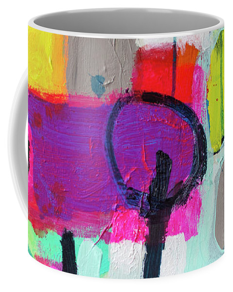 Abstract Coffee Mug featuring the painting Learner's Permit by Claire Desjardins