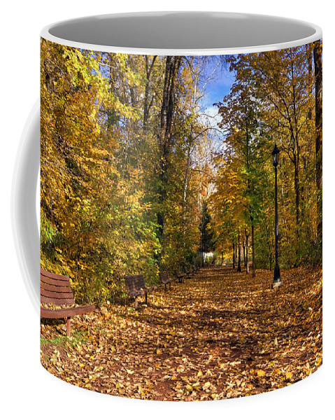 Hdr Coffee Mug featuring the photograph Leavenworth Waterfront Park by Brad Granger