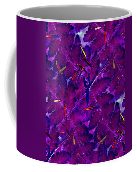 Leaves Coffee Mug featuring the photograph Leaves And Needles by Tim Allen