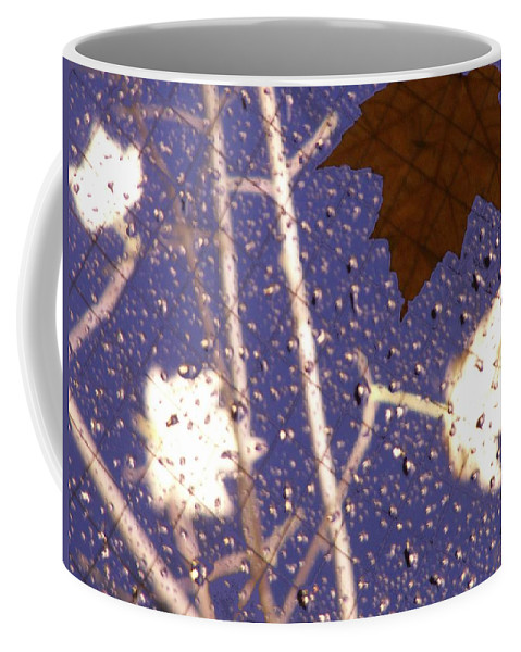 Leaves Coffee Mug featuring the photograph Leaves And Rain 2 by Tim Allen