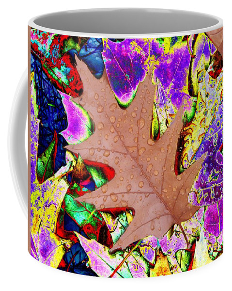 Leaves Coffee Mug featuring the photograph Leaves And Rain 4 by Tim Allen
