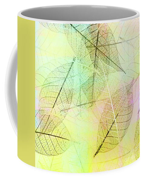 Leaf Coffee Mug featuring the photograph Leaves Background by Svetlana Foote