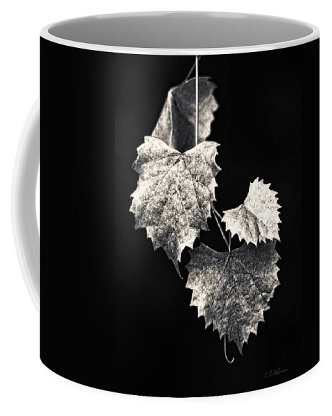 B&w Coffee Mug featuring the photograph Leaves by Christopher Holmes