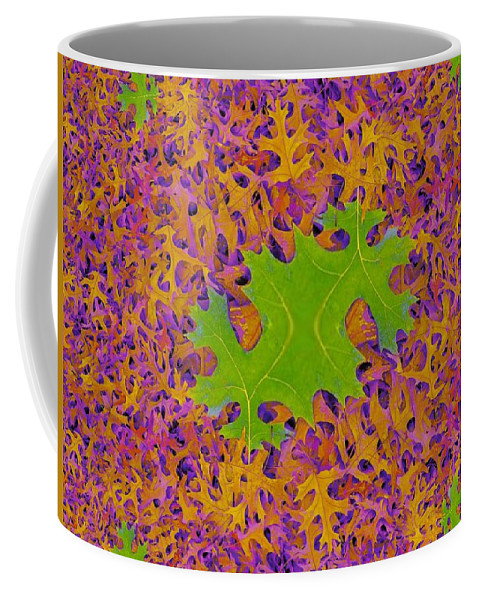 Leaves Coffee Mug featuring the photograph Leaves In Fractal 2 by Tim Allen