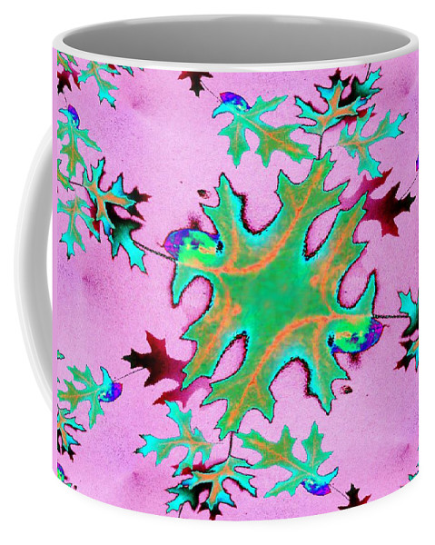 Leaf Coffee Mug featuring the photograph Leaves In Fractal by Tim Allen