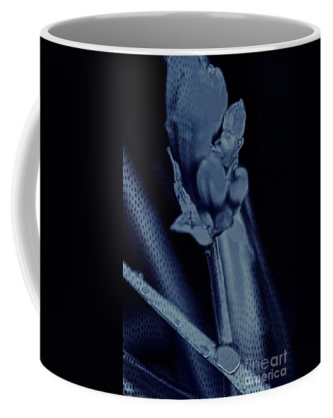 Leaves Coffee Mug featuring the photograph Leaves Of Blue by Becky Kurth
