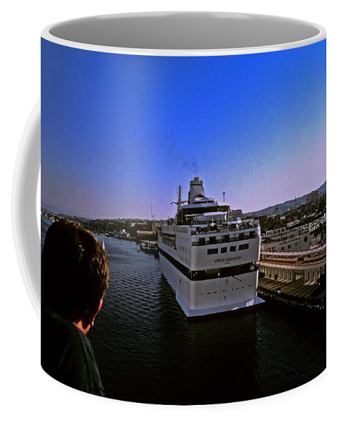 Cruise Ship Coffee Mug featuring the photograph Leaving Port by Gary Wonning