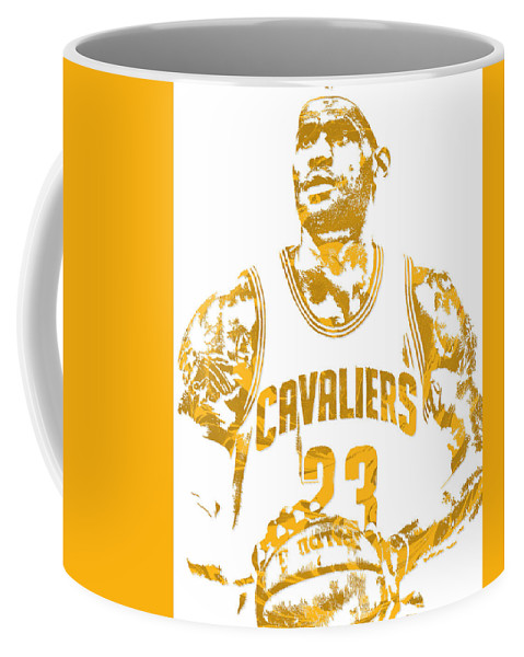 2eb648c3d2f3 Lebron James Coffee Mug featuring the mixed media Lebron James Cleveland  Cavaliers Pixel Art 8 by