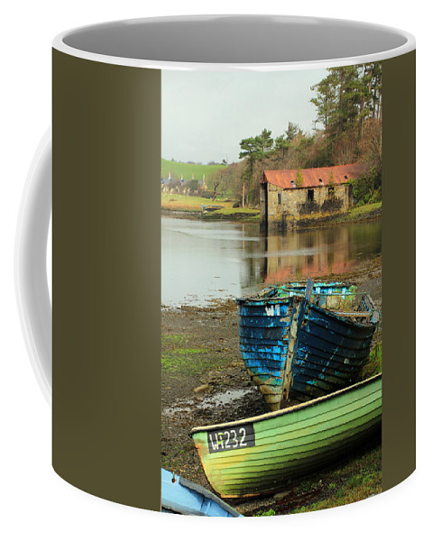 Boats Coffee Mug featuring the photograph Left Behind by Jennifer Robin