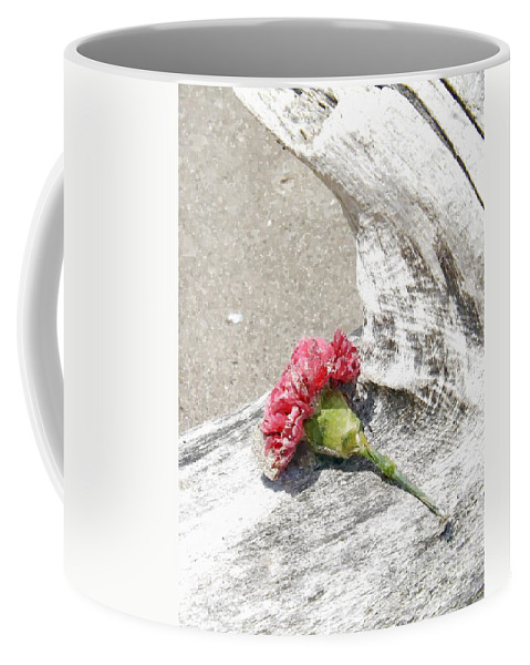 Carnation Coffee Mug featuring the painting Left Behind by Sara Raber