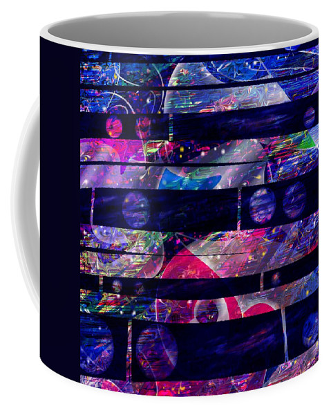 Abstract Coffee Mug featuring the digital art Leftovers by Rachel Christine Nowicki