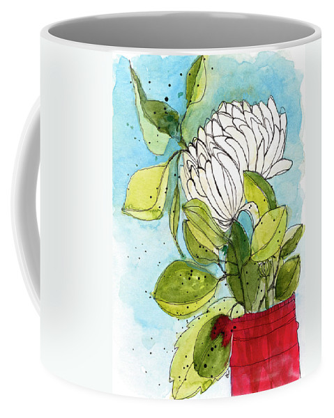 Watercolor Coffee Mug featuring the painting Leftovers by Tonya Doughty