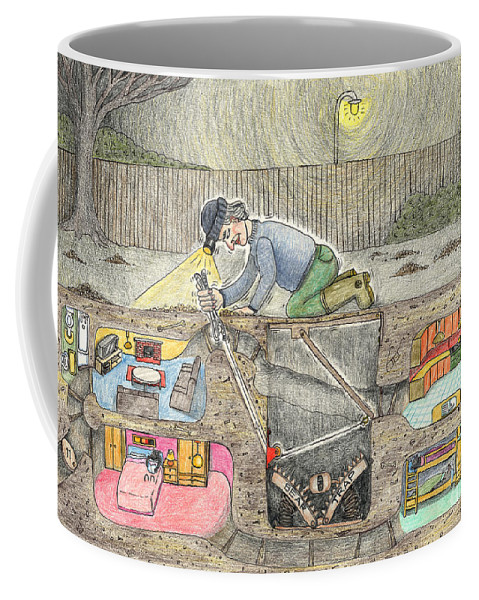 Mole Art Coffee Mug featuring the drawing Legs 11 by Steve Royce Griffin