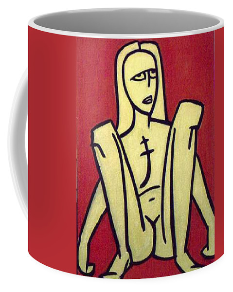 Nude Coffee Mug featuring the painting Legs by Thomas Valentine