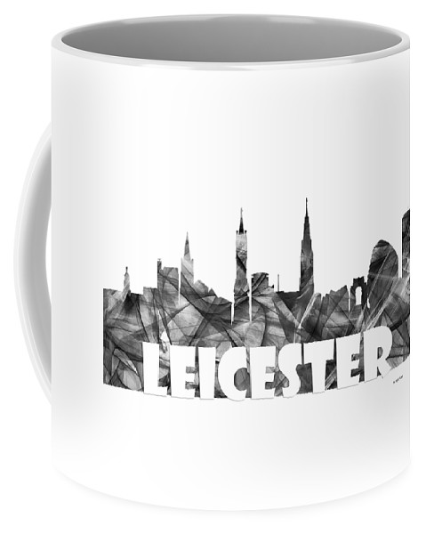 Leicester Coffee Mug featuring the digital art Leicester England Skyline by Marlene Watson