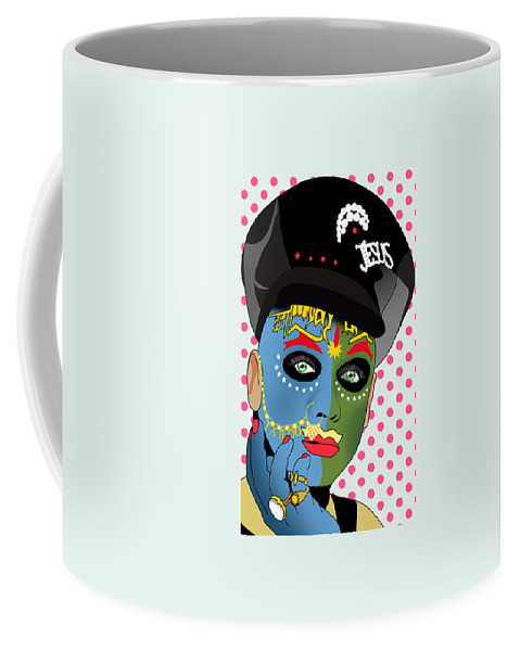 Leigh Bowery Coffee Mug featuring the painting Leigh Bowery 2 by Mark Ashkenazi