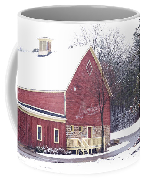 Barn Coffee Mug featuring the photograph Leinie by Tim Nyberg
