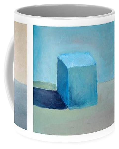 Lemon Coffee Mug featuring the painting Lemon Cube Sphere by Michelle Calkins