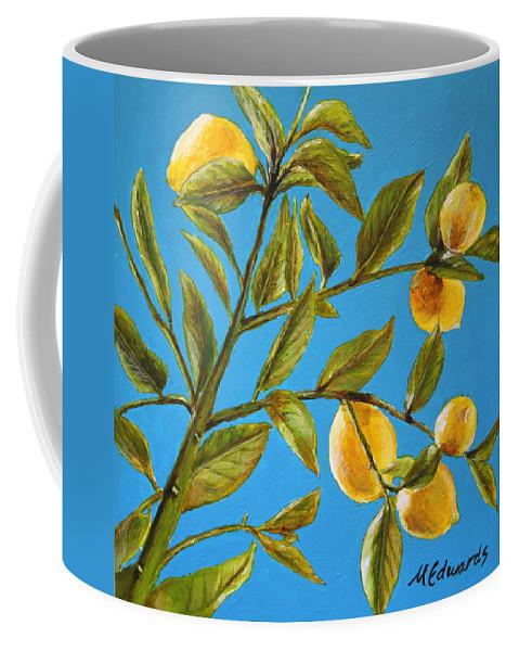 Lemons Coffee Mug featuring the painting Lemon Tree by Marna Edwards Flavell