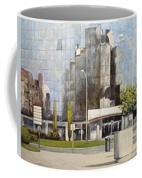 Leon Coffee Mug featuring the painting Leon by Tomas Castano